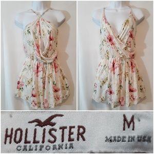 Hollister Floral Print Shorts Romper